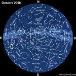 El cielo en octubre de 2008