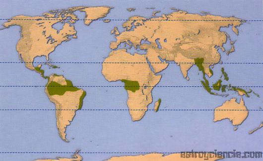 Mapa de zonas tropicales