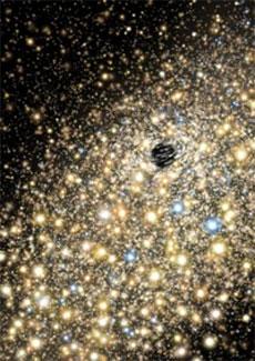 Ilustración de un agujero negro supermasivo