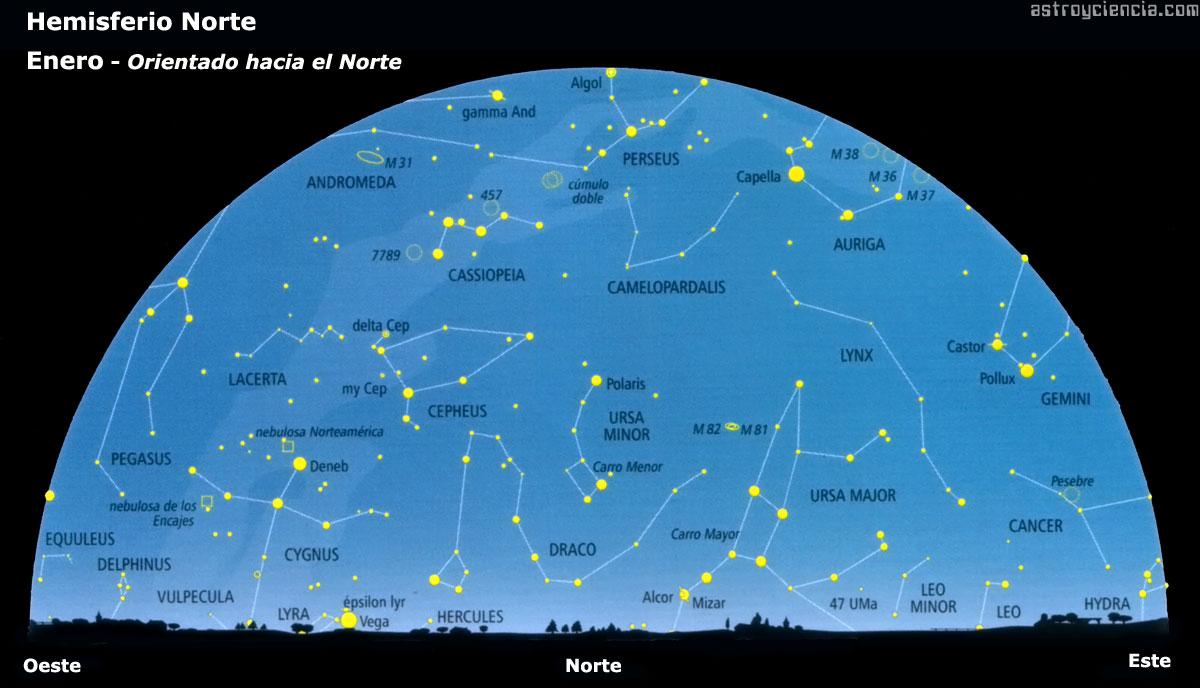 Mapa Estelar Hemisferio Norte.Mapa Estelar Hemisferio Norte Mapa