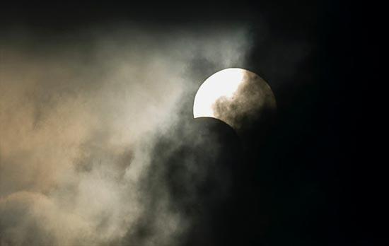 Eclipse desde el monte fuji