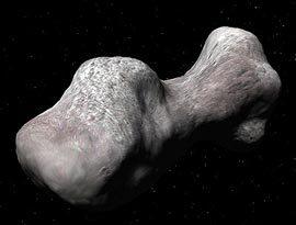 Asteroide Castalia, con forma de pesas