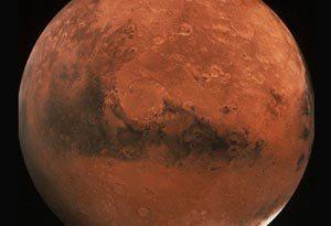 Mapa de todos los cráteres de Marte
