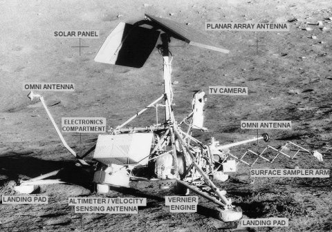 Partes de la sonda espacial Surveyor