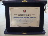targa riconoscimento scuola Calderone ampliamento offerta formativa