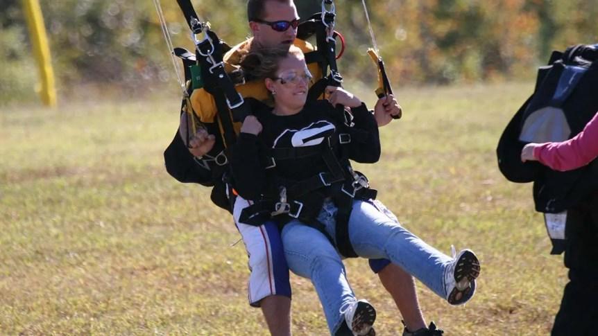 Tandem Skydive Landing