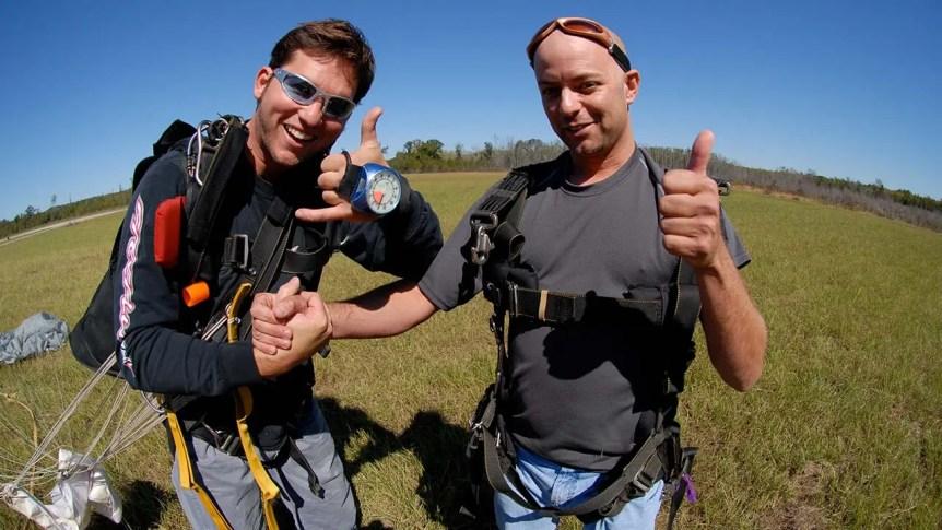 Tandem Skydive Safe Landing