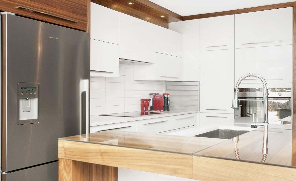 cuisine blanche et bois ikea