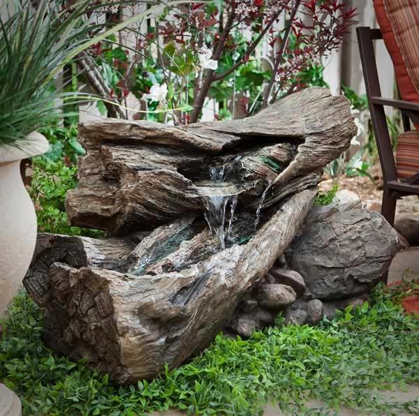Transformer un tronc darbre en fontaine  Bricolage maison