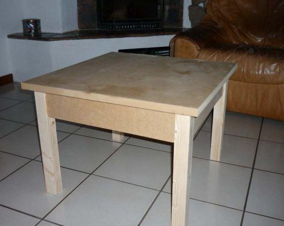 Fabriquer une table basse en bois