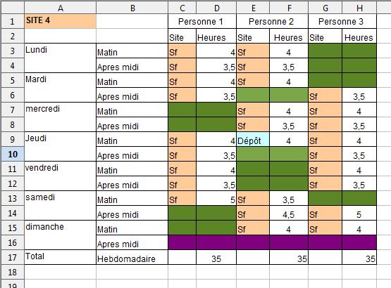 Modele Planning Horaire Hw84 Jornalagora