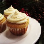 Eggnog Cupcakes with Eggnog Cream Cheese Frosting