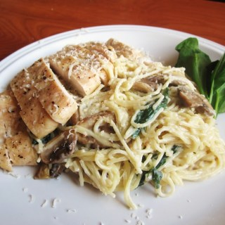 3 Cheese Chicken and Mushroom Pasta