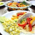Chicken Fajitas and Mexican Corn (Esquites)