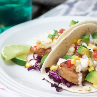 Tequila Shrimp Tacos with Chipotle Lime Crema