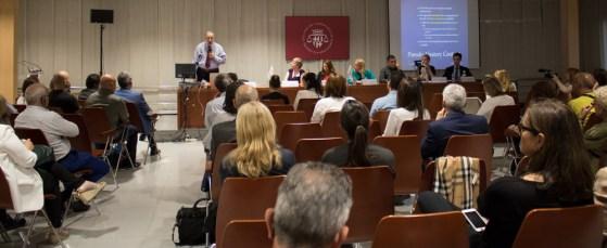 Boštjan M. Zupan?i?, Juez en el Tribunal de Derechos Humanos de Estrasburgo, en su intervención junto a los demás ponentes de los balcanes