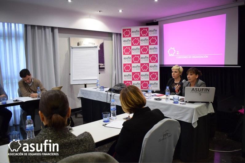 Reunión Trimestral de abogados colaboradores de ASUFIN. Intervención de Rosana Organista, Secretaria General de ASUFIN.