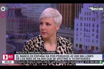 Patricia Suárez en Telemadrid sobre el caso Bankia.