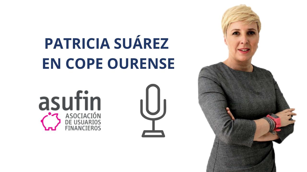 Patricia Suárez sobre el Impuesto de Hipotecas y Actualidad financiera - COPE Ourense - 16.11.18