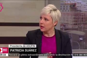 Patricia Suárez en Telemadrid sobre plusvalías y planes de pensiones