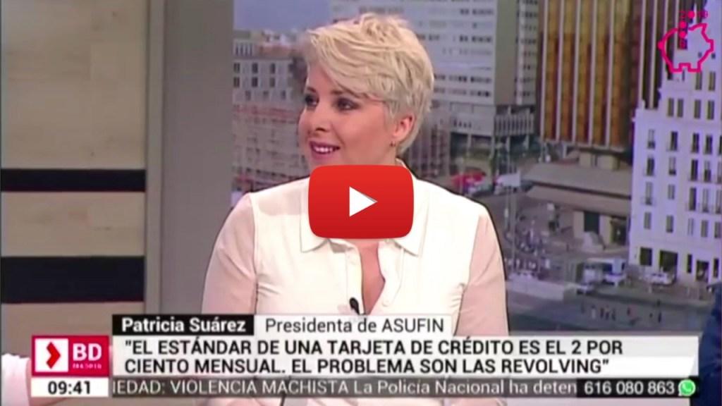 Patricia Suárez en Telemadrid sobre el gasto de los consumidores.