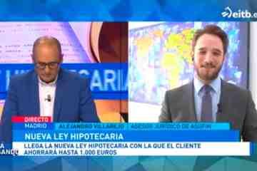 ASUFIN en EITB sobre nueva Ley De Crédito Hipotecario
