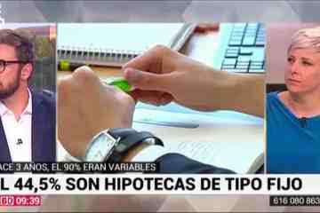 Patricia Suárez sobre hipotecas fijas vs hipotecas variables - 03.09.19