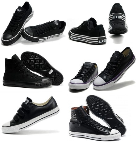 Different Design For Converse All Star All Black Edition Sneakers