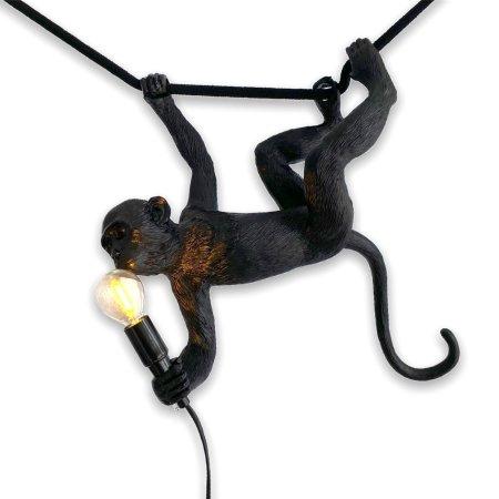 Zwarte monkey lamp