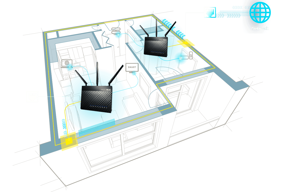 hight resolution of ethernet backhaul provides you the choice of using wired connections between routers for even more reliable