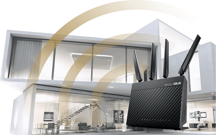 ASUS 4G-AC68U provides great coverage through out your home.