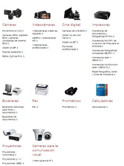 productos canon