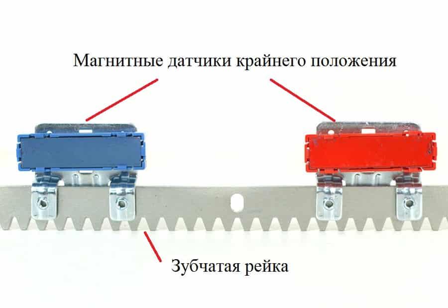 Installazione del sensore magnetico della posizione estrema