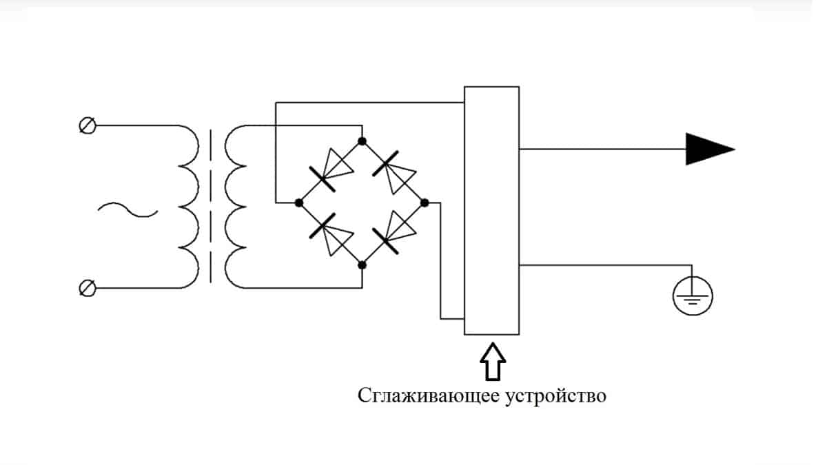 Принципиальная схема выпрямления для сварочного трансформатора