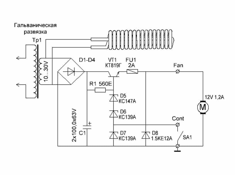 Löd de korta (växla till kort) och långa (växla till ström) röda ledningar till strömbrytaren.