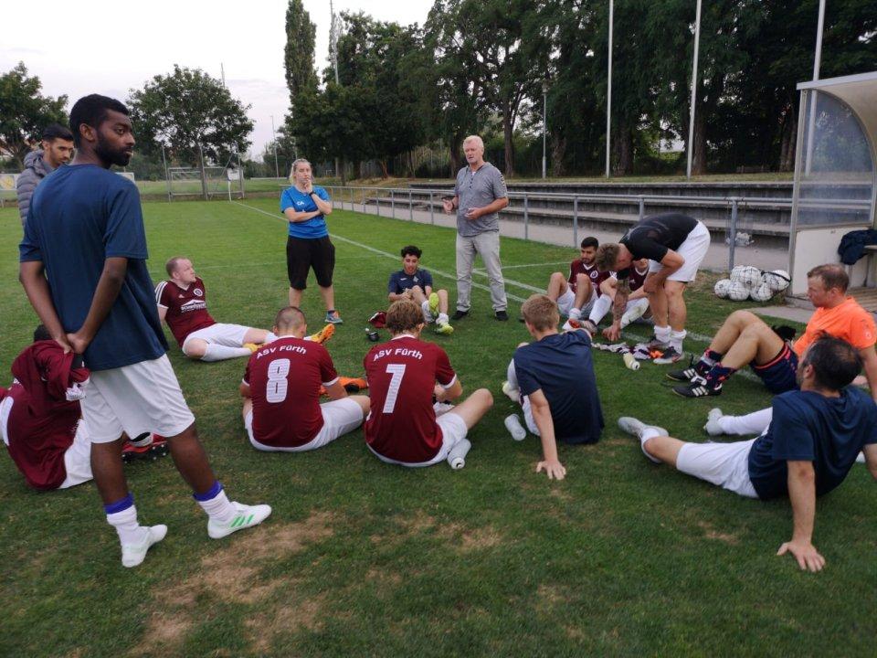 Nach dem Freundschaftsspiel gegen SG Nürnberg am 19.07.19