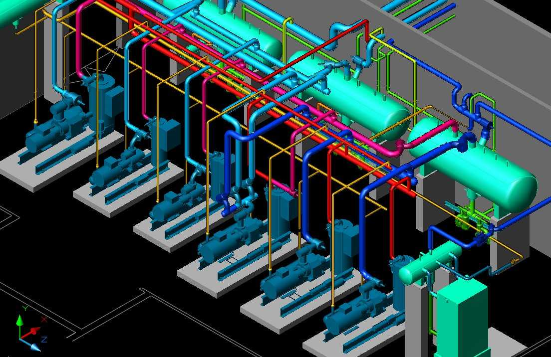 hight resolution of hvac cad drawing