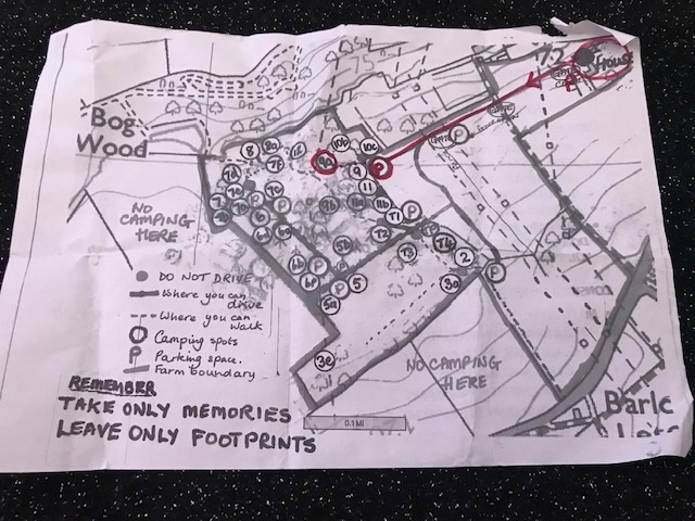 Map of Brockwell Woods