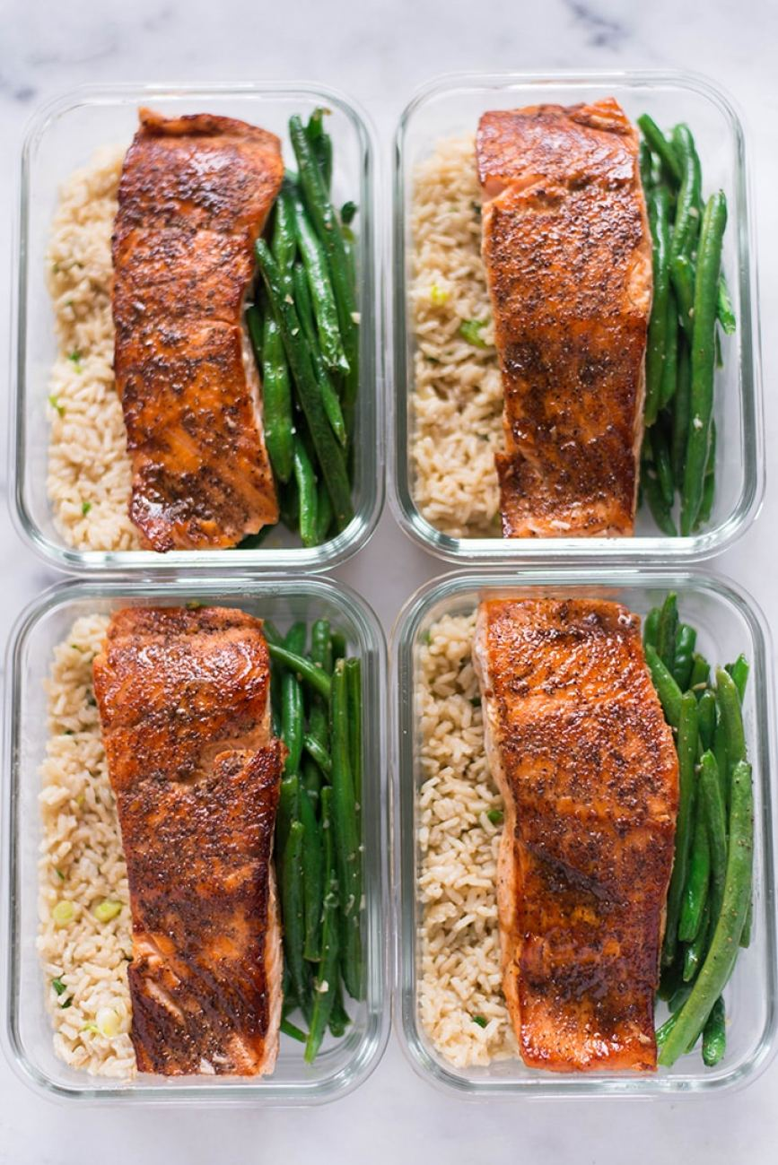 salmon meal prep recipe easy and healthy
