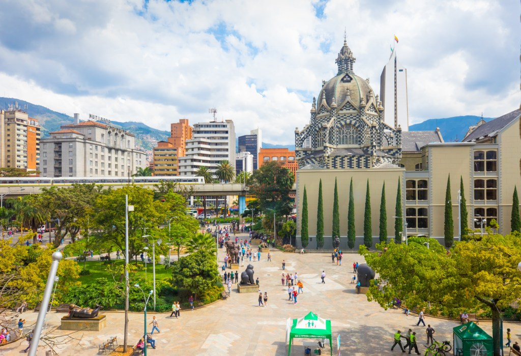 Colombia (botero square) - Image Source: iStock/Markpittimages
