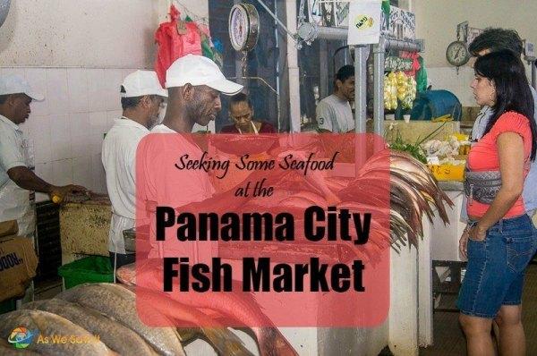 vendor at Panama City fish market Panama
