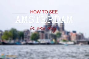 Meme with How to See Amsterdam in One Day text