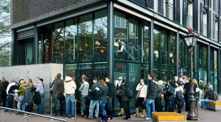 Anne Frank House ticket line