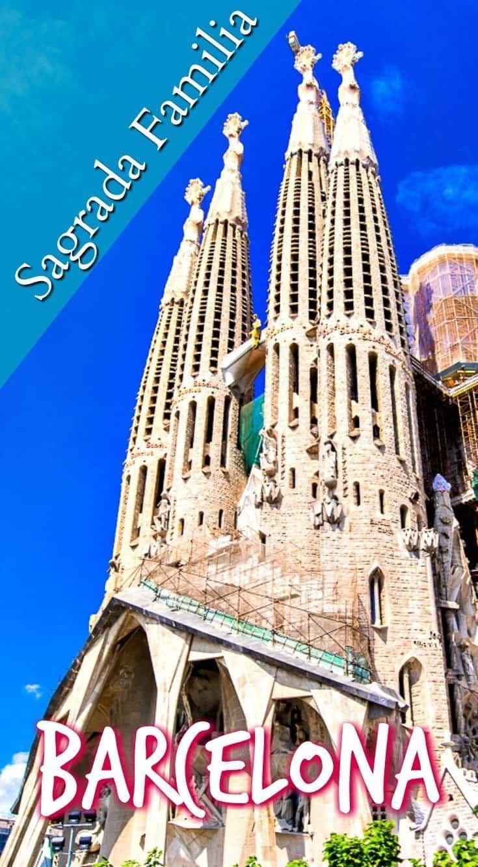 Sagrada Familia by Gaudi in Barcelona