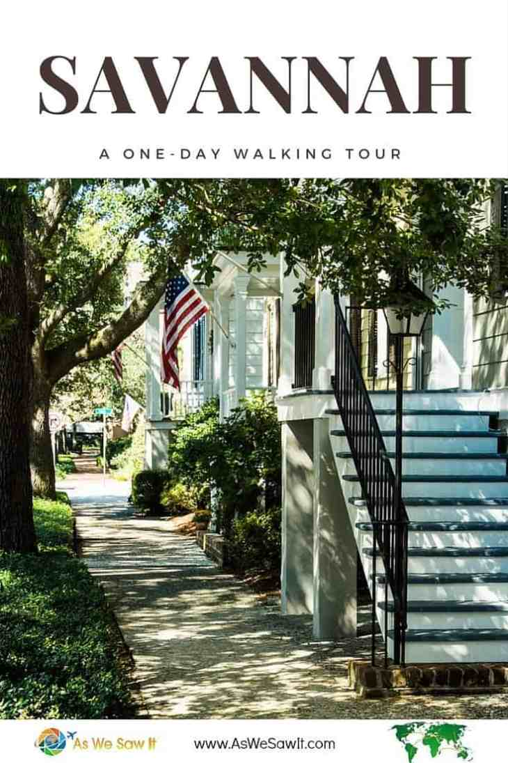 Follow this itinerary for a walking tour that can be done in one day in Savannah, Georgia.