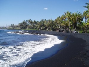 Punaluu Black Sand Beach – Big Island, Hawaii
