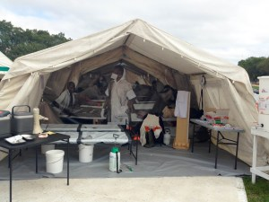 A typical MSF medical tent