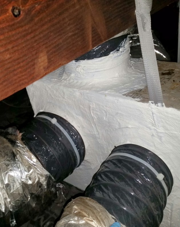 Sealed Ducts paid for by Entergy Solutions Residential Rebates