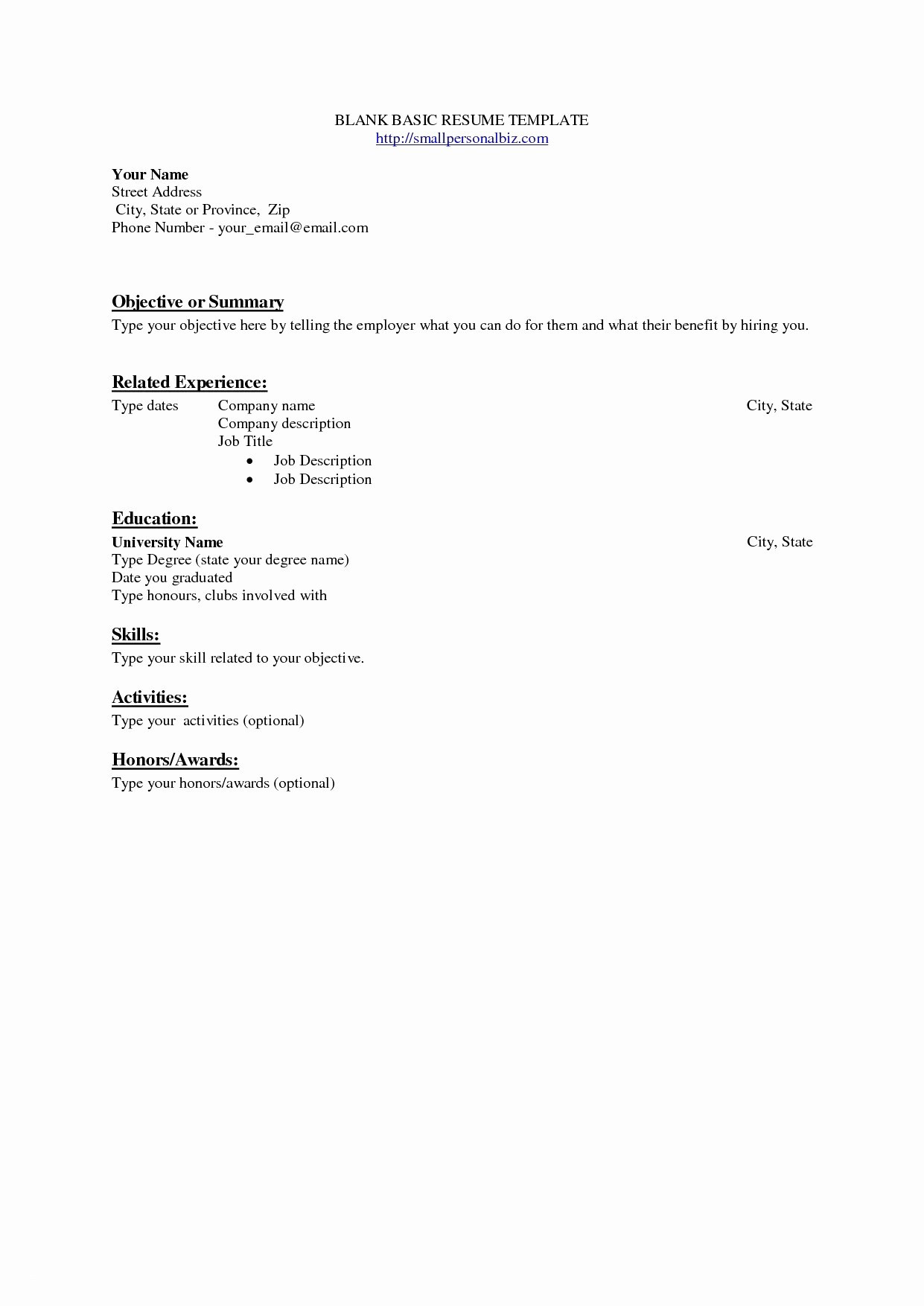 9 Standard Resume Template Examples Resume Database Template
