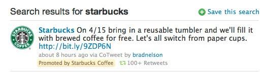 Promoted Tweet auf Twitter. Beispiel